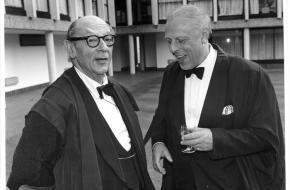 Christopher Walton MBE together with Sir Isaiah Berlin at Wolfson College. Image courtesy of Henry Hardy.